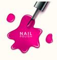 nail polish beauty paint drop cosmetic bottle vector image vector image