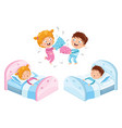 of children in pajamas vector image