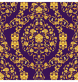 ornate seamlesspattern in Eastern style on deep vector image