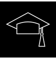 Outlined Mortar Board vector image vector image