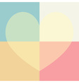pastel cute heart and rectangle seamless pattern vector image