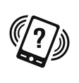 Phone with question vector image vector image