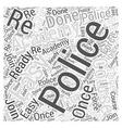 police swat Word Cloud Concept vector image vector image