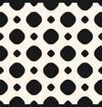 polka dot monochrome seamless big pattern vector image vector image