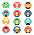profession icons vector image vector image