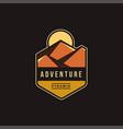 pyramid dessert adventure explore park logo vector image vector image