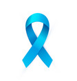 realistic blue ribbon to prostate cancer awareness vector image vector image