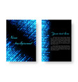 rectangular booklet with neon light vector image vector image