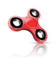 red fidget spinner vector image vector image