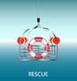Rescue basket vector image vector image