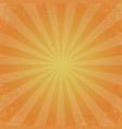 retro of orange color background ray stylish vector image vector image