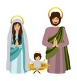 sacred family with baby jesus kneel vector image vector image