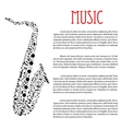 Saxophone made up of musical notes vector image vector image