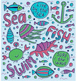 sea lettering vector image vector image
