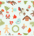 seamless merry christmas and happy new year vector image vector image