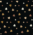seamless pattern with little beige hearts vector image vector image