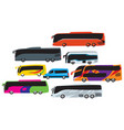 set bus mass transit vector image