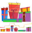 set colored cartoon gift box vector image