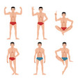 set of sports men people flat icons vector image vector image