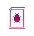 silhouette spider insect to danger symbol inside vector image vector image
