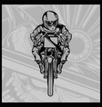 skull motorcycle racing vector image