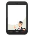 smartphone speech bubble vector image vector image