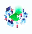 solution concept background isometric style vector image