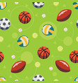 sport ball seamless pattern vector image vector image