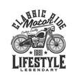 tshirt print with custom bike retro motorcycle vector image