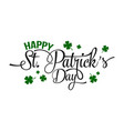 typographic saint patricks day greeting card vector image
