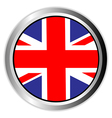 united kingdom england uk flag button vector image