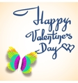valentines day greeting card with calligraphic vector image vector image