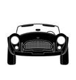 vintage car front side vector image vector image