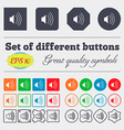 volume sound icon sign Big set of colorful diverse vector image vector image