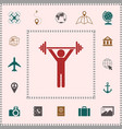 weightlifting dumbbell training icon elements vector image vector image
