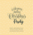 wishing you a merry chrismas night party vector image vector image