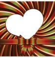 background with heart and ribb vector image