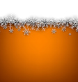 Christmas orange abstract background vector image