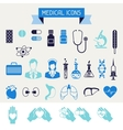 Medical and health care icons set vector image