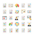 pack of flat relating business analytics t vector image