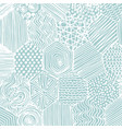 Abstract pattern hand drawing decorative vector image