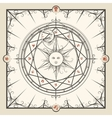 Alchemy magic circle vector image vector image