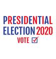 american election 2020 vector image vector image