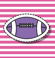 american football ball patch design vector image vector image