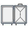 an empty travel luggage vector image vector image