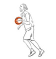 basketball player playing vector image vector image