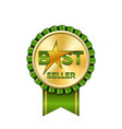best seller award ribbon icon gold badge isolated vector image vector image