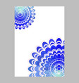 blue abstract floral mandala page background vector image vector image