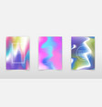 blurred holographic backgrounds set chrome vector image