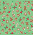 christmas cookies seamless background vector image
